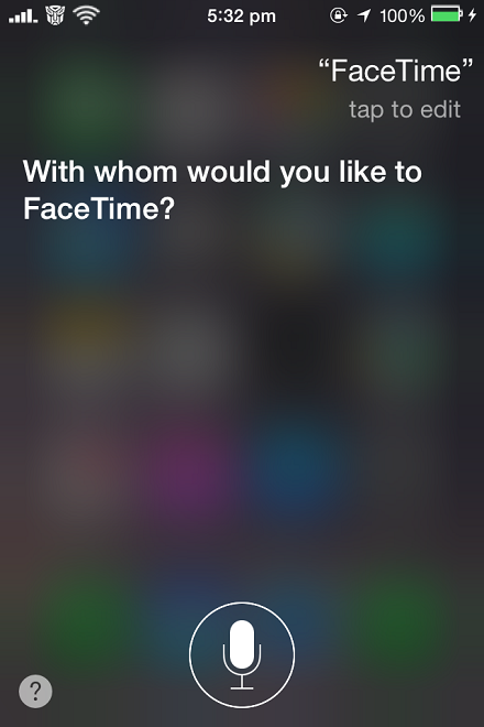 FaceTime Calls with Siri